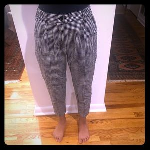 Urban Outfitters black and white plaid pants.